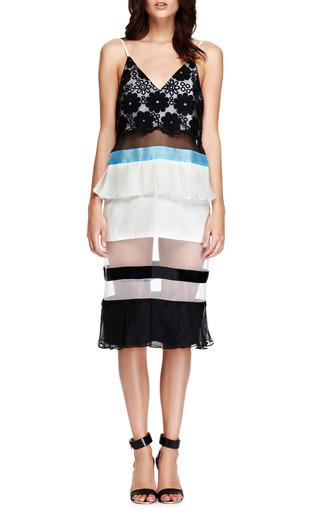 Clarice Embroidered Ruffled Hem Paneled Dress by KARLA ŠPETIC Now Available on Moda Operandi