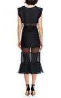 Francis Organza Trimmed Cropped Top by KARLA ŠPETIC Now Available on Moda Operandi