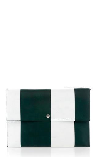 Medium marni green deep green striped bandoleer shoulder bag