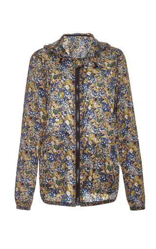 Floral Print Nylon Anorak by MSGM Now Available on Moda Operandi