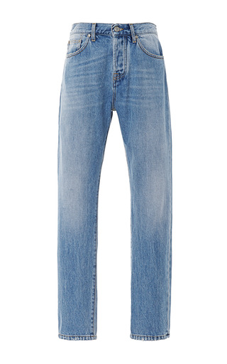 Medium msgm blue logo patch boyfriend jeans