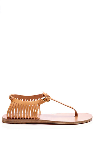 Leather Thong Cage Sandals by ANCIENT GREEK SANDALS Now Available on Moda Operandi