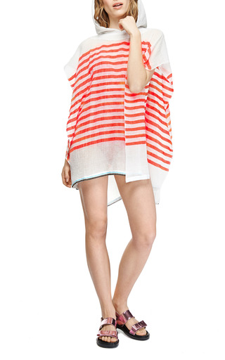 Lilly Striped Hooded Poncho by LEMLEM Now Available on Moda Operandi