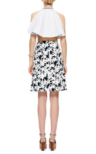Palms Coated Denim Skirt by KENZO Now Available on Moda Operandi