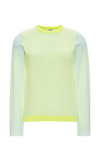 Color Block Cashmere Sweater by KENZO Now Available on Moda Operandi