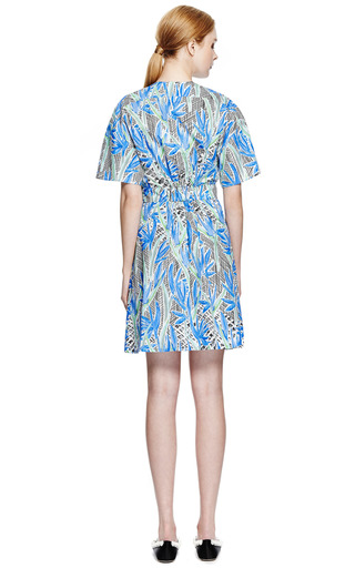 Printed Cotton Wrap Dress by KENZO Now Available on Moda Operandi