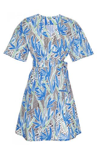 Printed Cotton Wrap Dress by KENZO Now Available on Moda Operandi