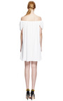 Crinkled Double Georgette Off The Shoulder Dress by KENZO Now Available on Moda Operandi