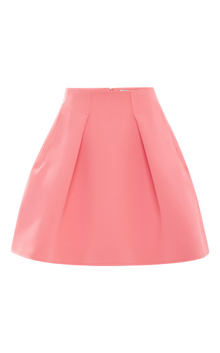 Medium kenzo pink inverted pleat neoprene skirt