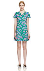 Kenzo Printed V Neck Cotton Dress by KENZO Now Available on Moda Operandi