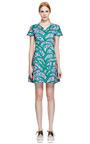 Kenzo Printed V Neck Cotton Dress by KENZO Now Available on Moda Operandi