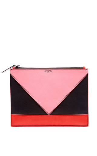 Medium kenzo multi kalifornia color block leather clutch