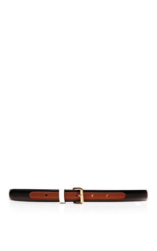 Tricolor Skinny Leather Belt by MAISON BOINET Now Available on Moda Operandi