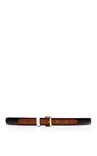 Medium maison boinet multi tricolor skinny leather belt 2