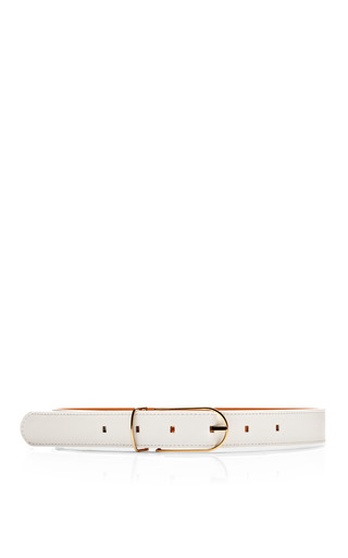 Medium maison boinet white thin leather belt 2