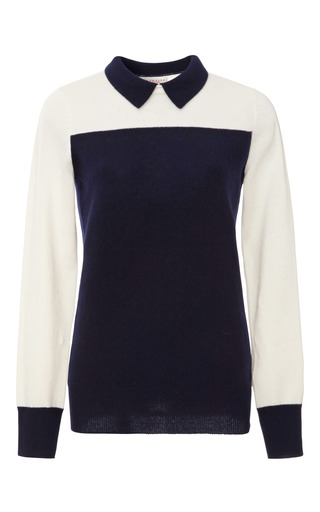Medium demy lee blue sidney cashmere color block sweater