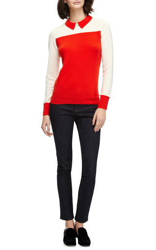 Sidney Cashmere Color Block Sweater by DEMY LEE Now Available on Moda Operandi