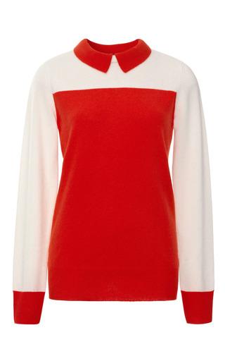 Medium demy lee orange sidney cashmere color block sweater 2