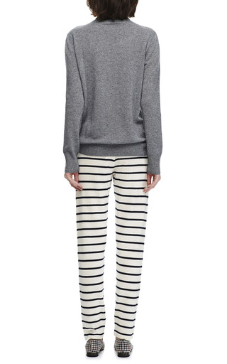 Cashmere Striped Pants by DEMY LEE Now Available on Moda Operandi