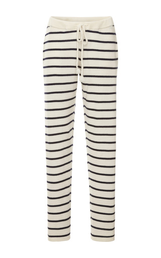 Medium demy lee navy cashmere striped pants