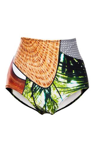 Medium clover canyon multi cuban amazon high waisted bathing suit bottom