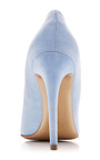 Curved Heel Suede Pumps by WALTER STEIGER Now Available on Moda Operandi