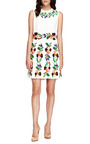 Embroidered Pleated Cady Dress by VALENTINO Now Available on Moda Operandi