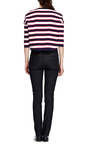 Striped Cotton Jersey Top by VALENTINO Now Available on Moda Operandi