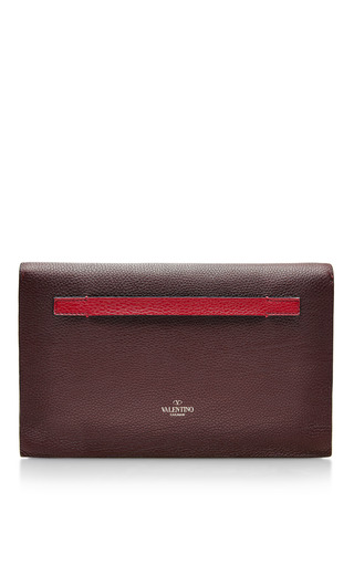Absolute Textured Leather Clutch by VALENTINO Now Available on Moda Operandi