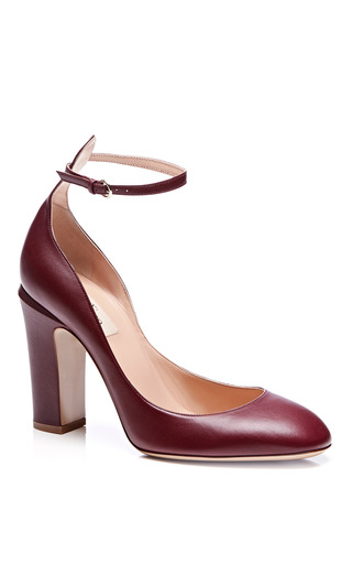 Tango Leather Mary Jane Pumps by VALENTINO Now Available on Moda Operandi