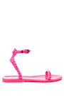 Rockstud Pvc Jelly Sandals by VALENTINO Now Available on Moda Operandi