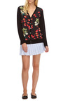 Taylor Printed Silk Front Wool Cardigan by EQUIPMENT Now Available on Moda Operandi