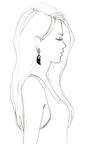 Carved Jet And Diamond Earrings by BOCHIC for Preorder on Moda Operandi