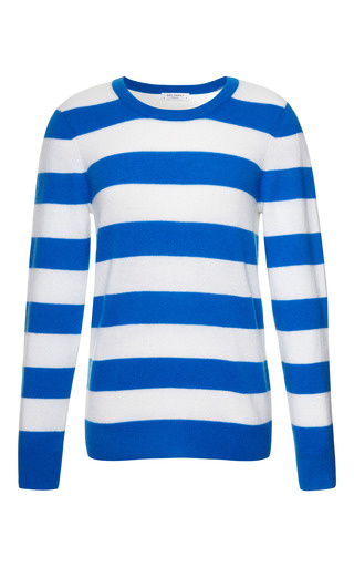 Medium equipment blue shane striped cashmere sweater