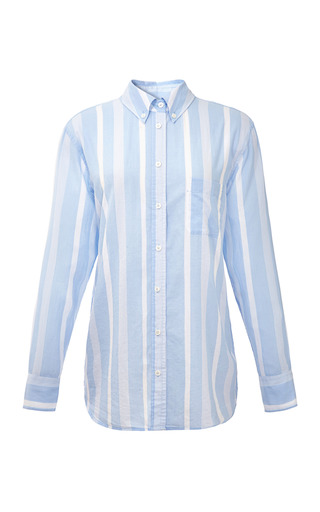 Medium equipment blue margaux striped cotton shirt