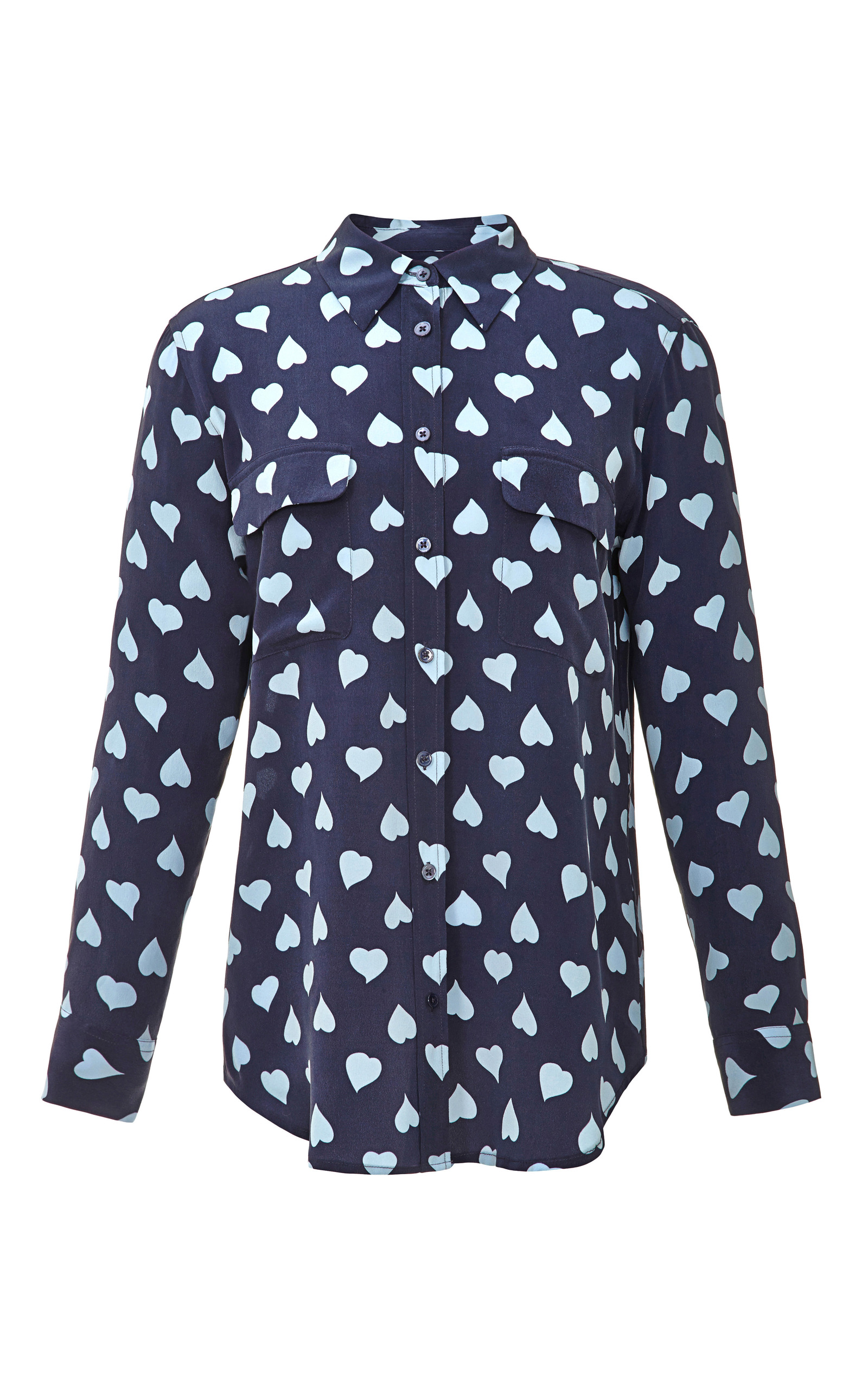 038dc7074ce9e Signature Heart-Print Washed-Silk Shirt by Equipment