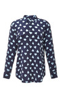Signature Heart Print Washed Silk Shirt by EQUIPMENT Now Available on Moda Operandi