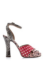 Printed Snakeskin Platform Sandals by MARC JACOBS Now Available on Moda Operandi