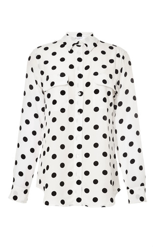 Medium equipment white modern dot printed slim signature