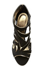 Ramage Suede And Metallic Leather Sandals by SERGIO ROSSI Now Available on Moda Operandi