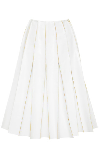 Medium j w anderson white reverse seam faux leather skirt