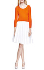 Pleated Denim A Line Skirt by J.W. ANDERSON Now Available on Moda Operandi