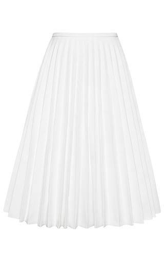 Medium j w anderson white pleated denim a line skirt 2