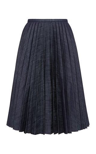 Medium j w anderson blue pleated denim a line skirt