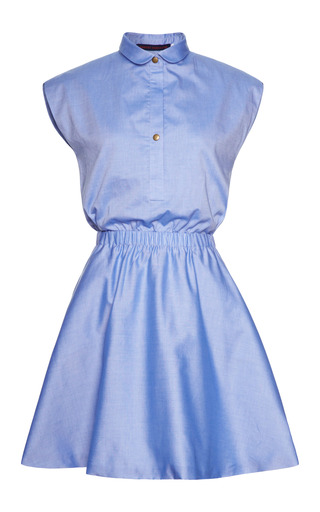 Medium harvey faircloth blue mo exclusive cotton chambray dress
