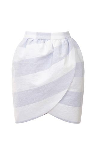 Wide Striped Mini Wrap Skirt by HARVEY FAIRCLOTH Now Available on Moda Operandi