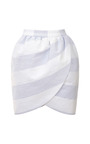 Wide Striped Mini Wrap Skirt by HARVEY FAIRCLOTH Now Available on Moda Operandi