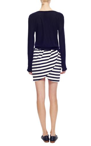 Striped Mini Wrap Skirt by HARVEY FAIRCLOTH Now Available on Moda Operandi
