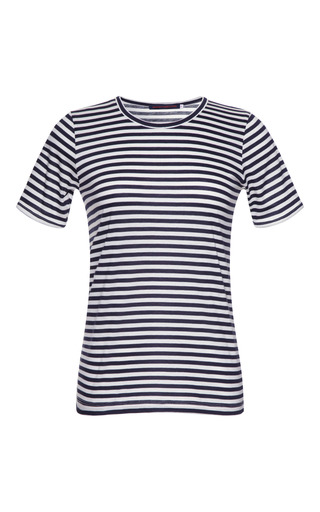 Medium harvey faircloth blue striped cotton blend t shirt