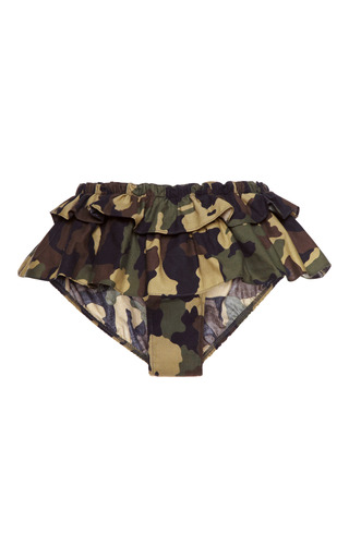 Medium harvey faircloth green mo exclusive ruffled camouflage brief